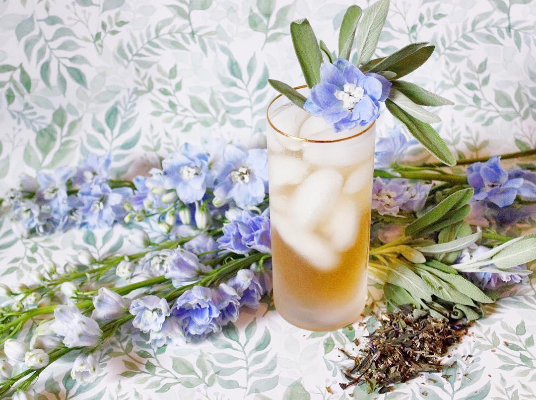Tea Cocktail: Lavender Sage Collins